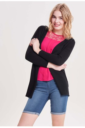 ONLY Womens Open Front Solid Cardigan