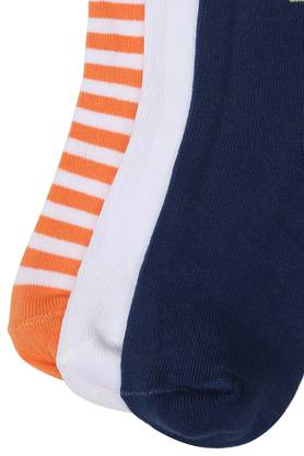 Boys Stripe and Solid Socks Pack of 3