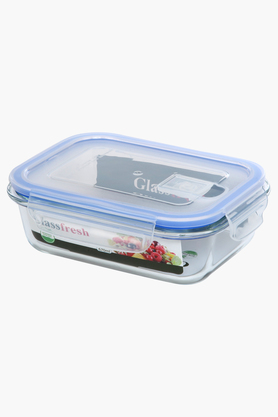 IVY Glass Container With Lid - 670 Ml