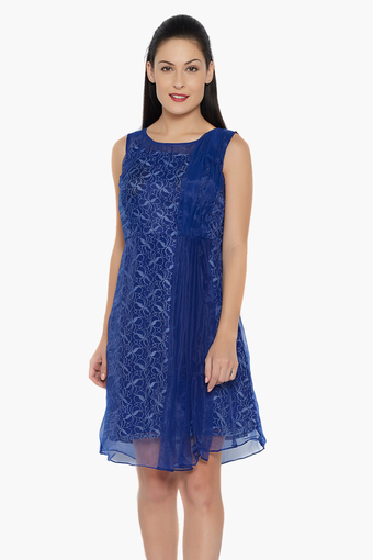 Womens Embroidered Short Dress