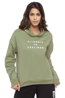 81276f1f8d X RHESON Womens Hooded Neck Graphic Print Sweatshirt