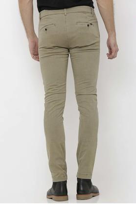 Mens Slim Fit Printed Trousers