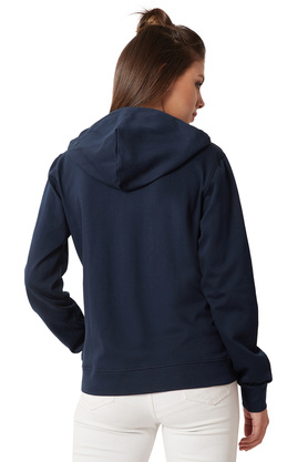 Womens Hooded Neck Twill Tape Detailing Solid Sweatshirt