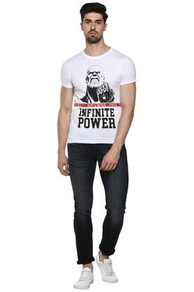 Mens Round Neck Avengers Print T-Shirt