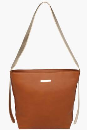 FEMINA FLAUNTWomens Synthetic Leather Zipper Closure Sling Bag